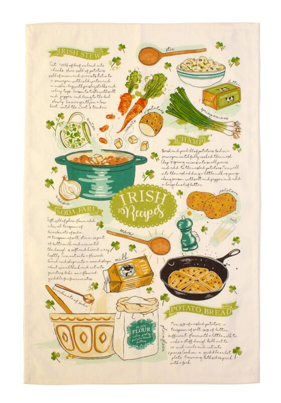 Irish Recipes by Ulster Weavers - Made in Ireland