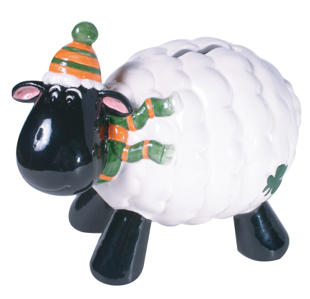 Black Face Irish sheep Savings Bank