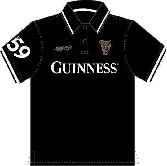 Guinness Black 59 Polo Shirt (S-XXL)