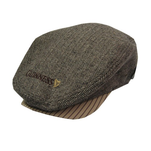 Brown/Tweed Guinness Flat Cap
